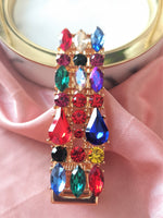 Multi-colour Crystallized Hair Clip (Large)