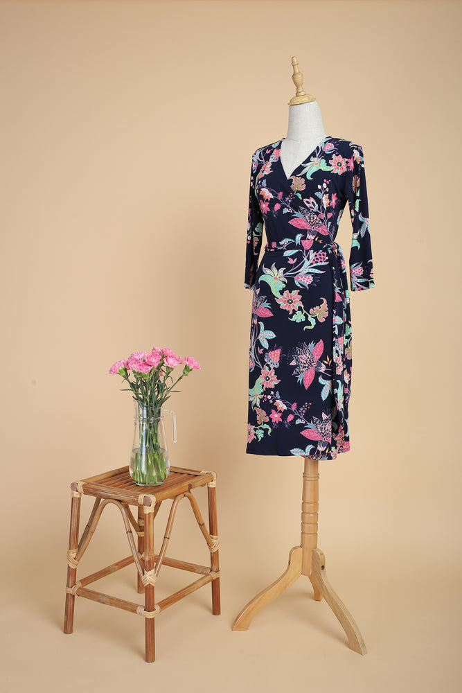 Rafflesia Midi Wrap Dress