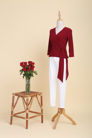 Load image into Gallery viewer, Scarlet Wrap Top