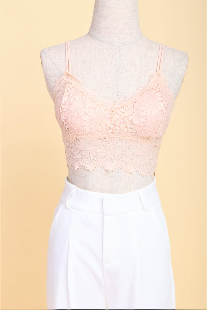 Soft Comfort Lace Bralette (Soft peach)