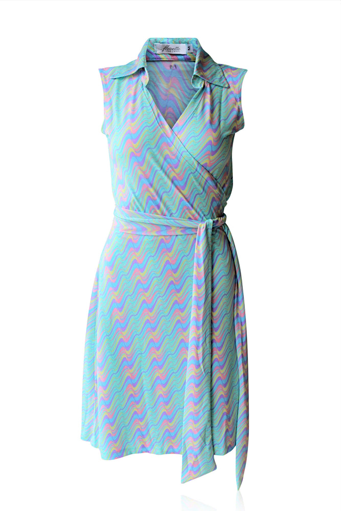 Paddlepop Sleeveless Wrap Dress