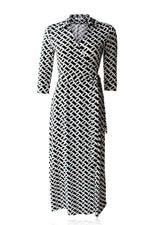 Jeanie Maxi Wrap Dress
