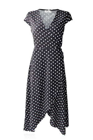Load image into Gallery viewer, Delilah Tulip Wrap dress (Midnight)