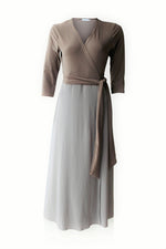 Dusty Mocha Maxi Wrap Dress
