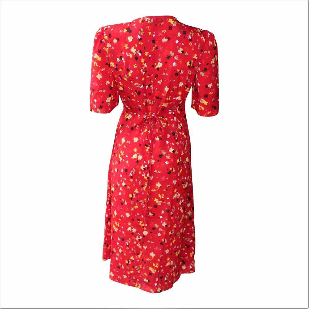 Rouge Vintage Riviera Buttoned Wrap Dress