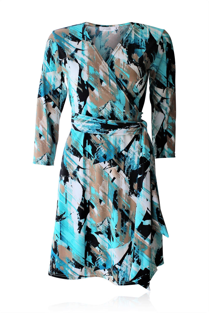 Brush Stroke Standard Wrap Dress