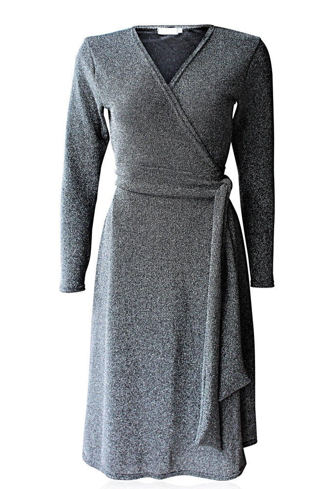 Chateau Midi Wrap Dress