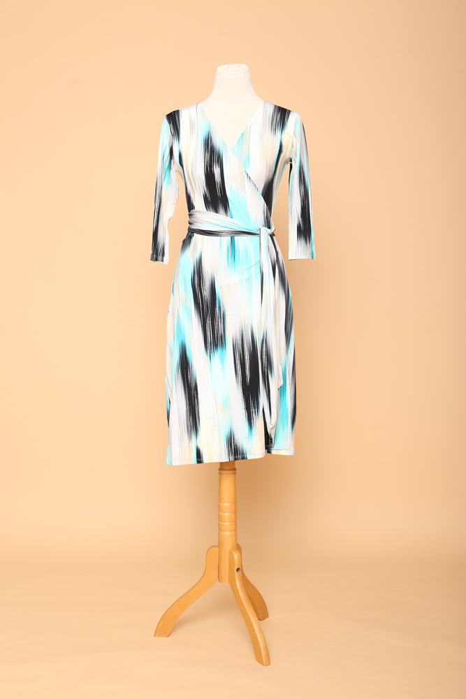 Silver Lagoon Midi Wrap Dress