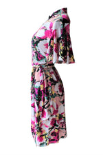 Cherry Blossom Cheongsam Wrap Dress