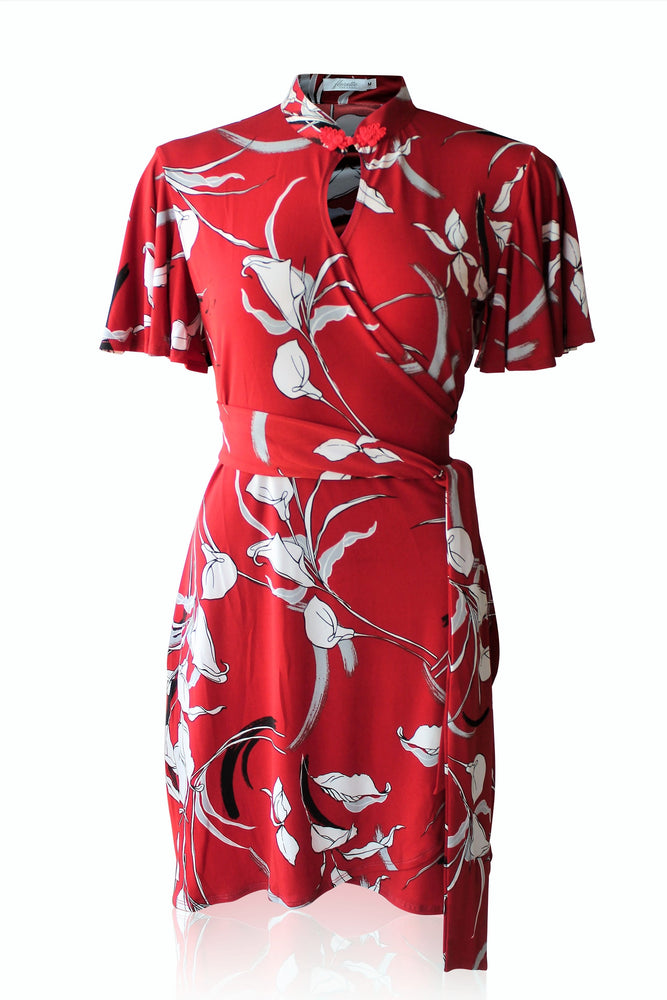 Wei Cheongsam Wrap Dress