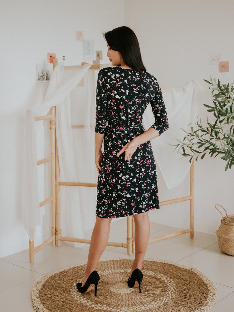 Load image into Gallery viewer, Tory Midi Wrap Dress