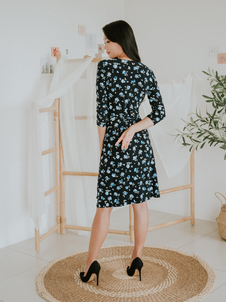 Alyson Midi Wrap Dress