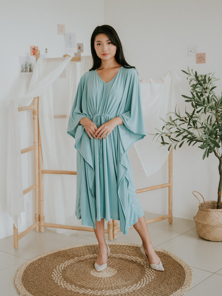 Load image into Gallery viewer, ComfyLite Jersey Caftan (Aqua)