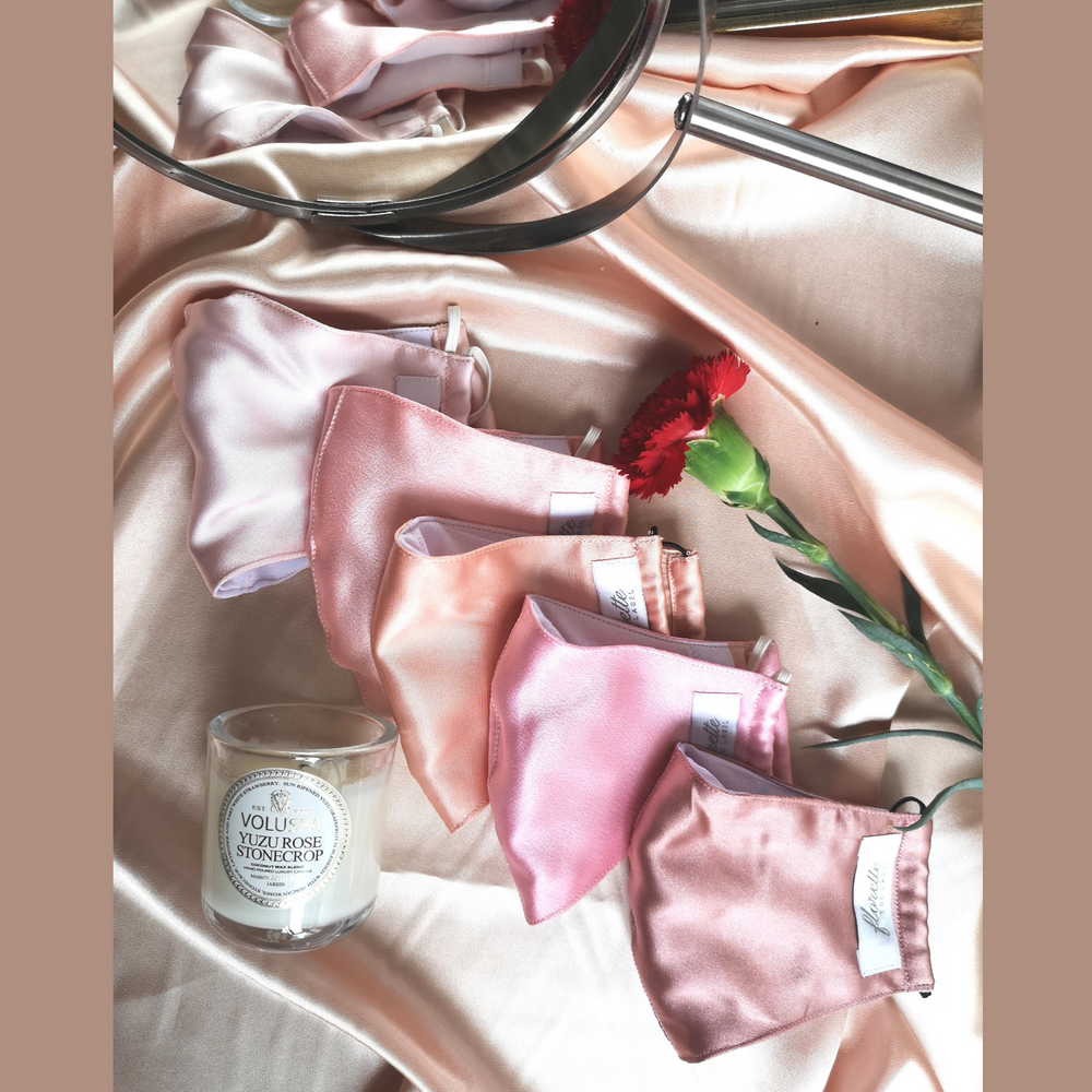 Load image into Gallery viewer, [SET OF 5]: Skin Blush Series Satin Face Masks