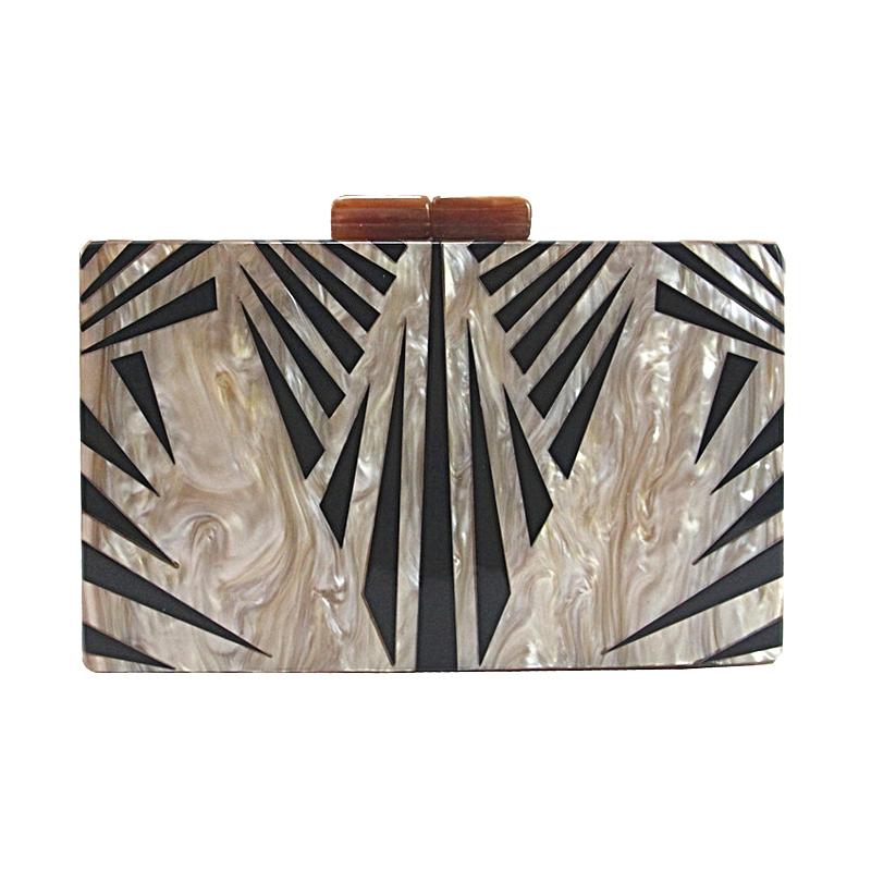Mauri Marble Chain Evening Clutch