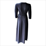 Long Black Maxi Wrap Dress