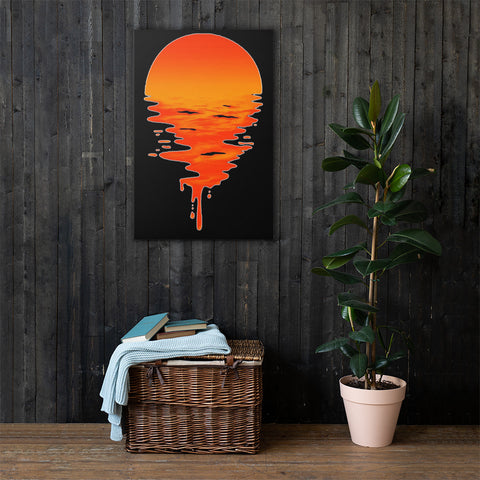 Liquid Sunset Canvas