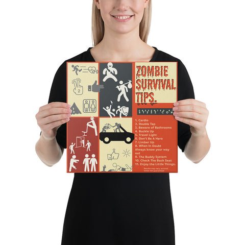Zombie Survival Tips Canvas