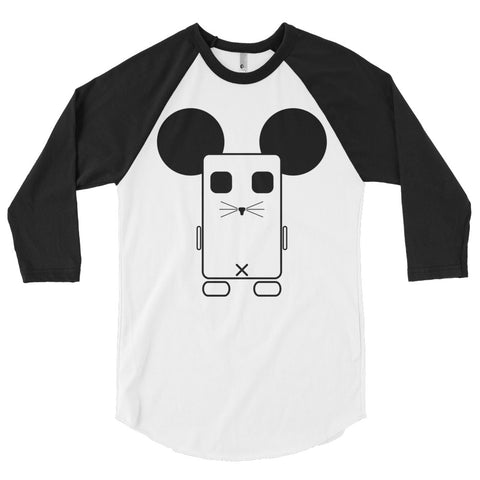 Square Mouse 3/4 sleeve raglan shirt
