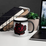 HD Rose 2 Matte Black Magic Mug