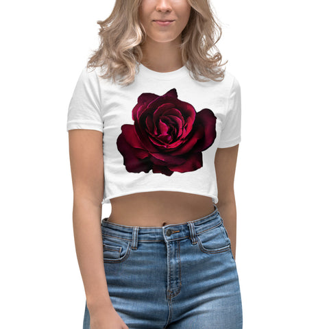 HD Rose Women's Crop Top