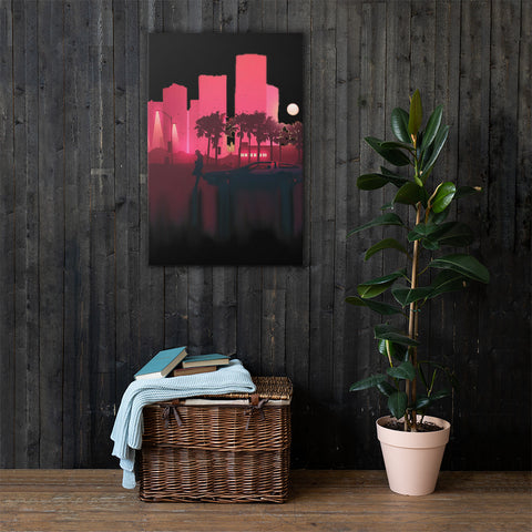 Neon Nights Canvas