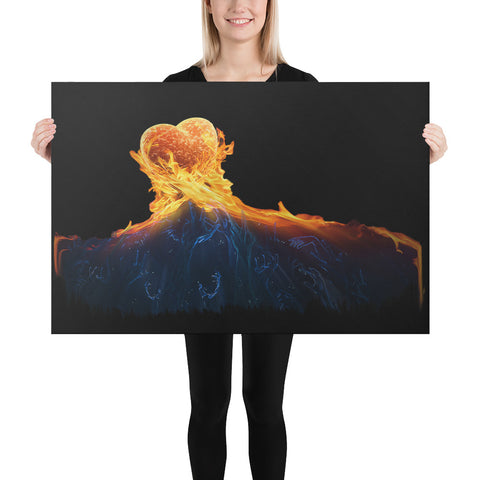 Fire Heart Canvas