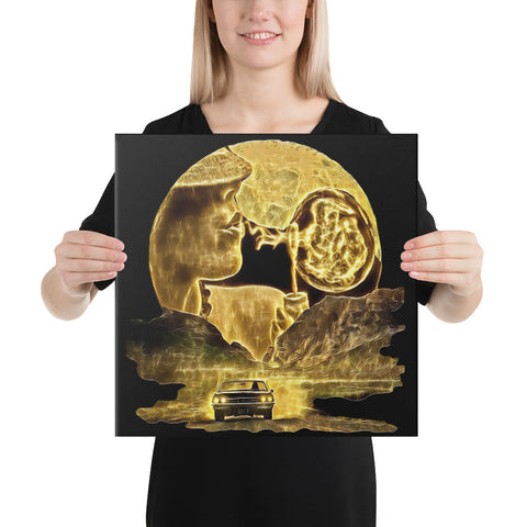 24K Moon Bubble Canvas