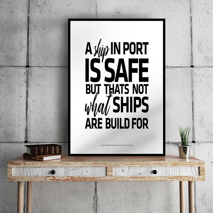 A ship in port...