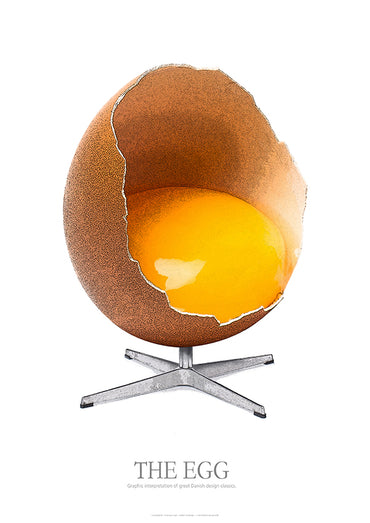 THE EGG - Graphic interpretation af great Danish design classics