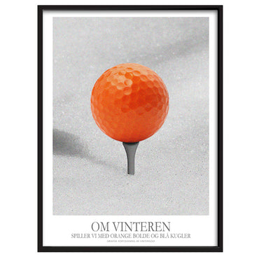 Orange Golf - om vinteren spiller vi med orange bolde og blå kugler