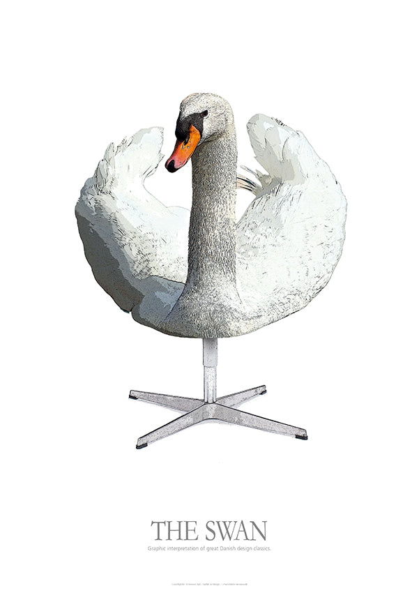 THE SWAN - Graphic interpretation of great Danish design classics