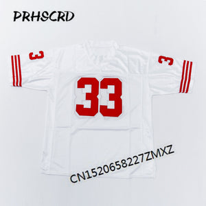 9e214cded3c 49ers #33 Roger Craig Embroidered Throwback Football Jersey