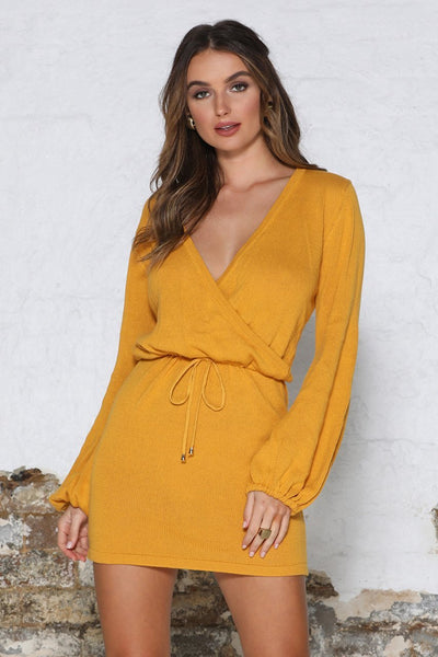 ALLEGRA DRESS - MUSTARD