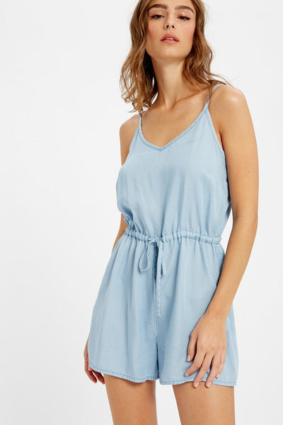 DENIM CASUAL TENCEL ROMPER