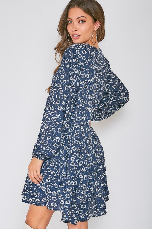 VICKIE DRESS - NAVY