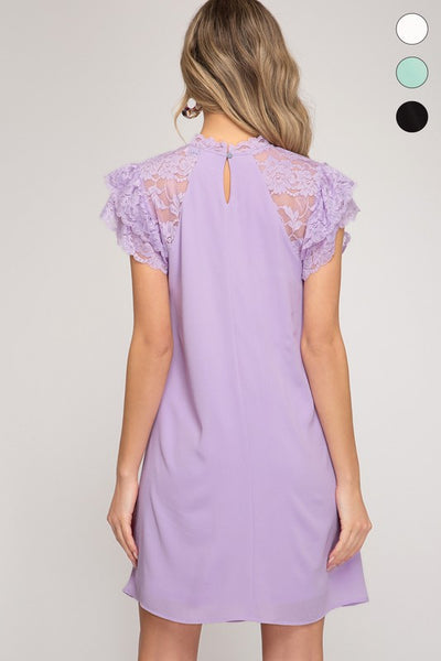 FLOUNCE LACE DRESS