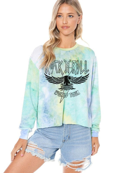 ROCK N ROLL WORLD TOUR EAGLE GRAPHIC SWEATER