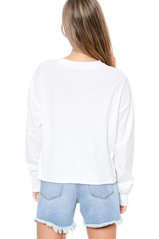 DREAM ON DREAMER SWEATER - WHITE