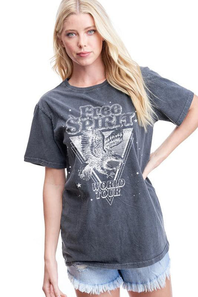 FREE SPIRIT GRAPHIC TEE - BLACK