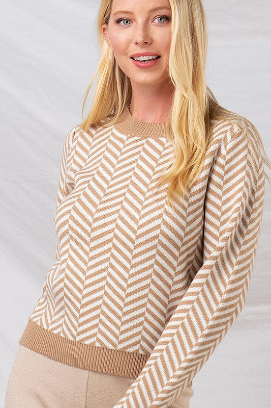 CHEVRON KNIT SWEATER
