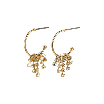 FIRE CRYSTAL GOLD PLATED EARRINGS