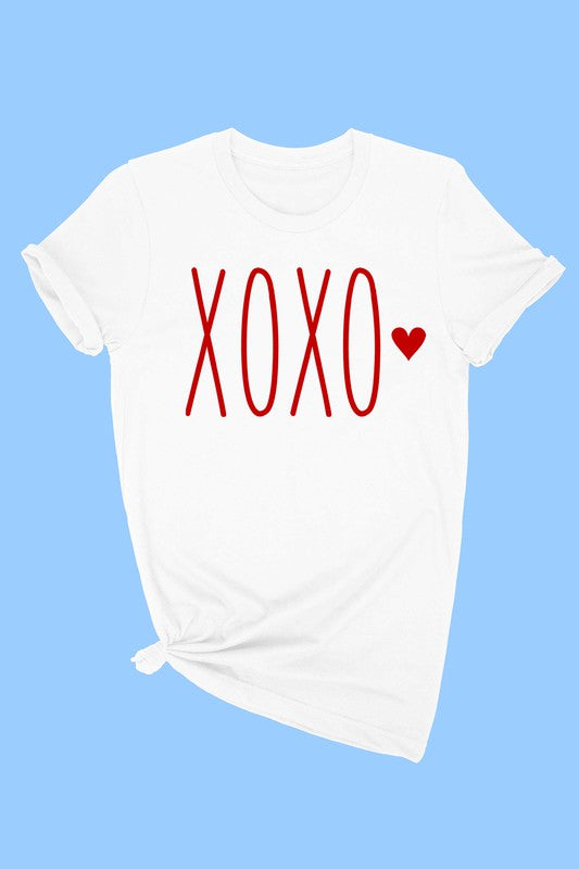 XOXO TODDLER TEE - WHITE
