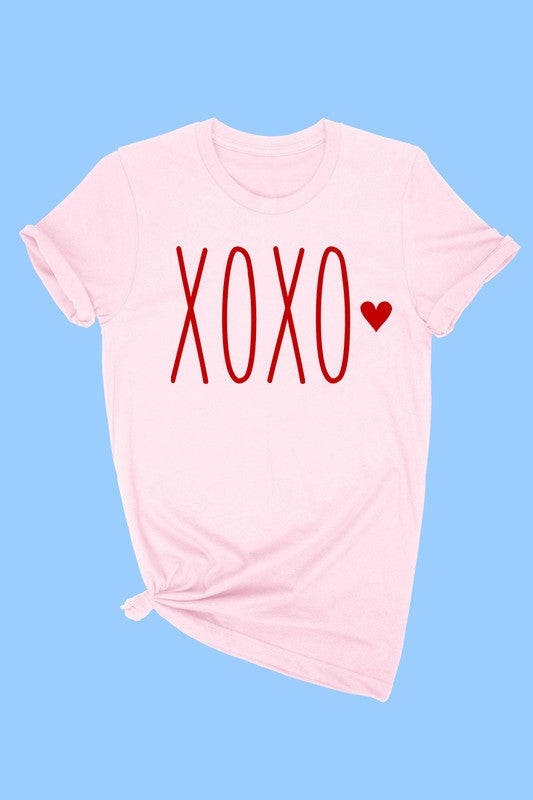XOXO TODDLER TEE - LIGHT PINK