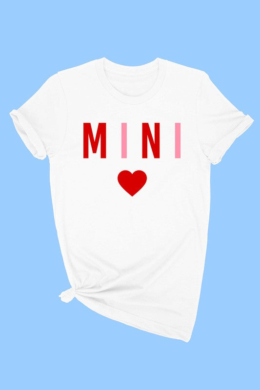 MINI HEART TODDLER TEE - WHITE