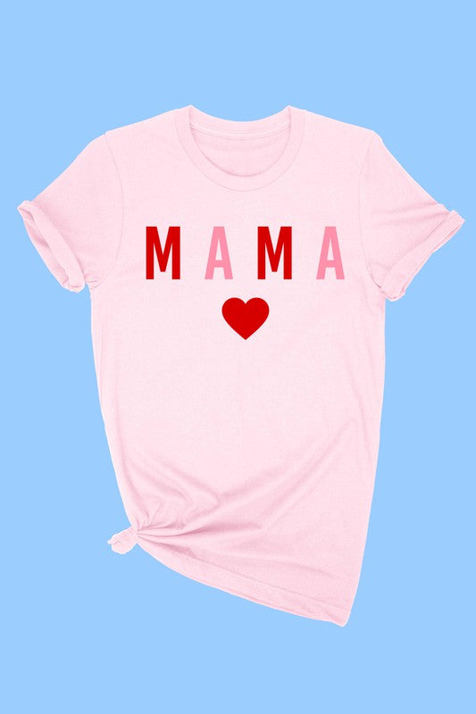 MAMA HEART TEE - LIGHT PINK