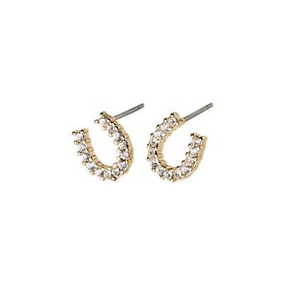 LEANNA GOLD PLATED HORSESHOE STUDS