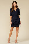 ADRIANA WRAP DRESS- NAVY