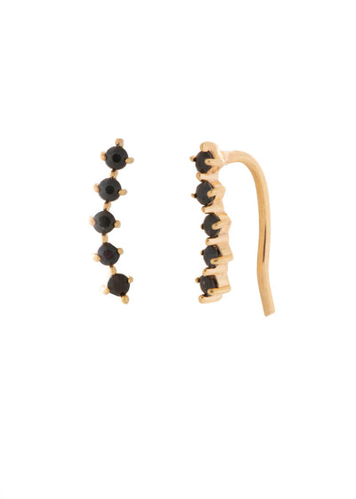 LADY EAR CLIMBERS GOLD WITH ONYX