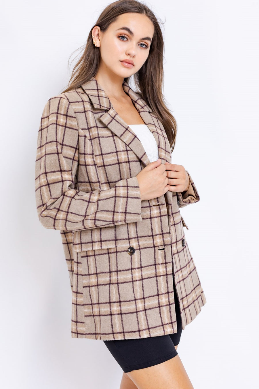 MOCHA PLAID JACKET
